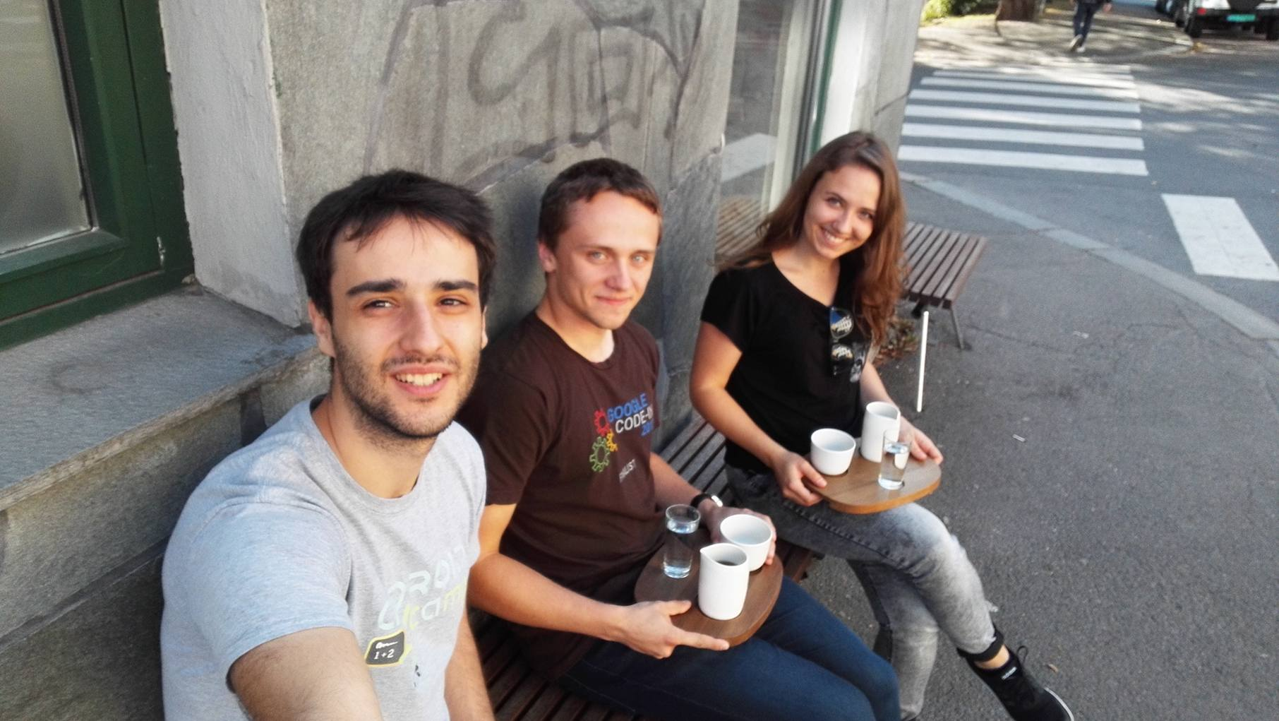 Coffee at Tim Wendelboe's with Karolina and Matei